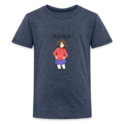 Anime girl 02 Text Manga - Teenager Premium T-Shirt