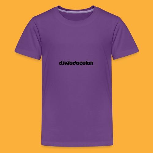 DJATODOCOLOR LOGO NEGRO - Camiseta premium adolescente