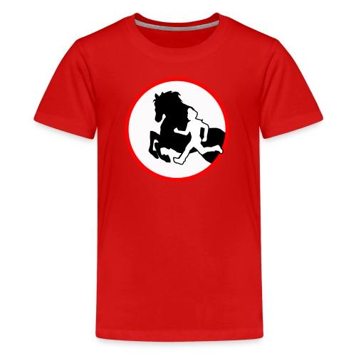 Horse Agility Logo - Teenager Premium T-Shirt