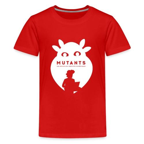 mutant H blanc - T-shirt Premium Ado