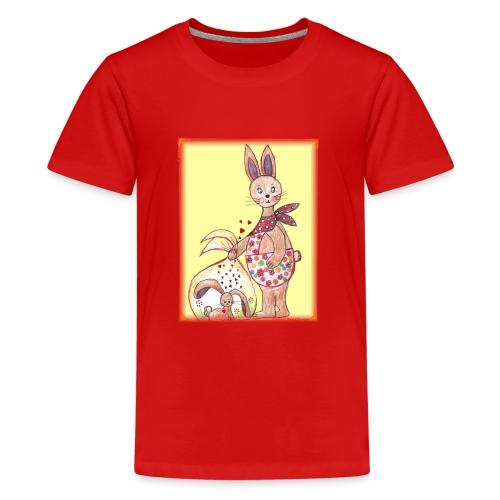 HäschenMama - Teenager Premium T-Shirt