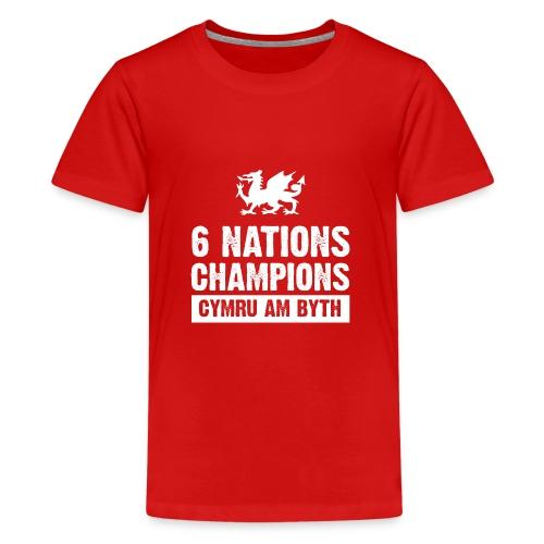 Wales Six Nations Rugby Champions - Teenage Premium T-Shirt