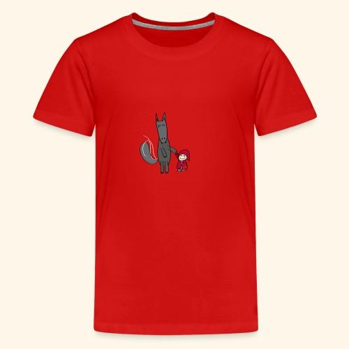 Le loup et le petit chaperon rouge - T-shirt Premium Ado