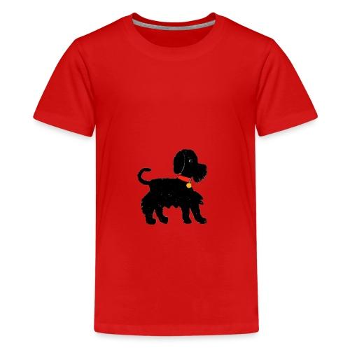 Schnauzer dog - Teenage Premium T-Shirt