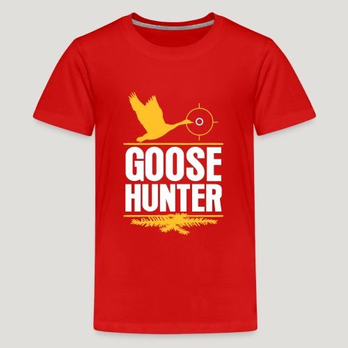 Jägershirt Gänse Jäger Goose Hunter Wildgans Jagd - Teenager Premium T-Shirt