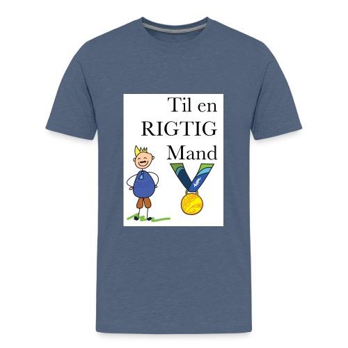 En rigtig mand - Teenager premium T-shirt