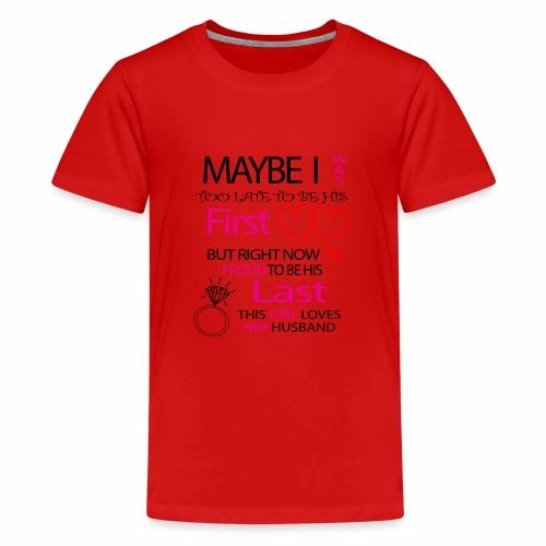 Ich liebe meinen Mann - Geschenkidee - Teenage Premium T-Shirt