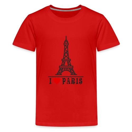 Paris - Teinien premium t-paita
