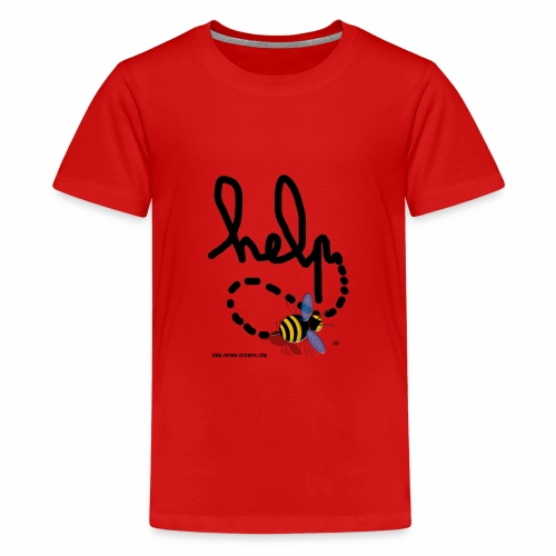 Help abeille texte noir - T-shirt Premium Ado
