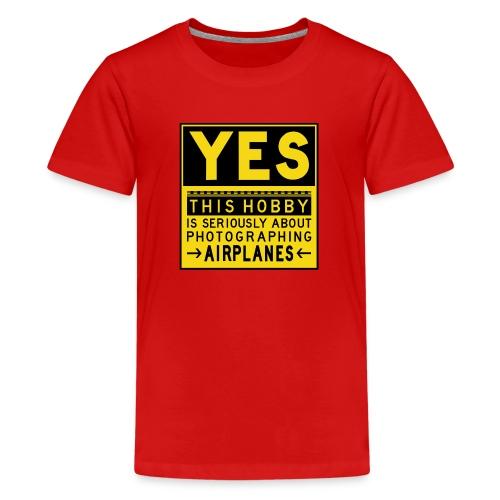 Mitä lentosuunnittelu tarkoittaa - esiliinamerkki - Teinien premium t-paita