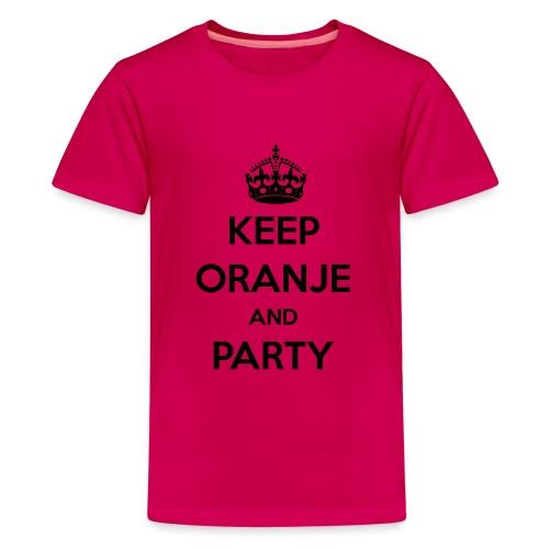 KEEP ORANJE AND PARTY - Teenager Premium T-shirt