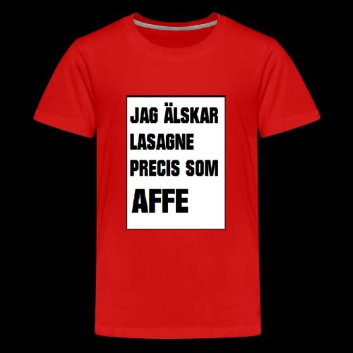 Affe älskar lasagne - Premium-T-shirt tonåring