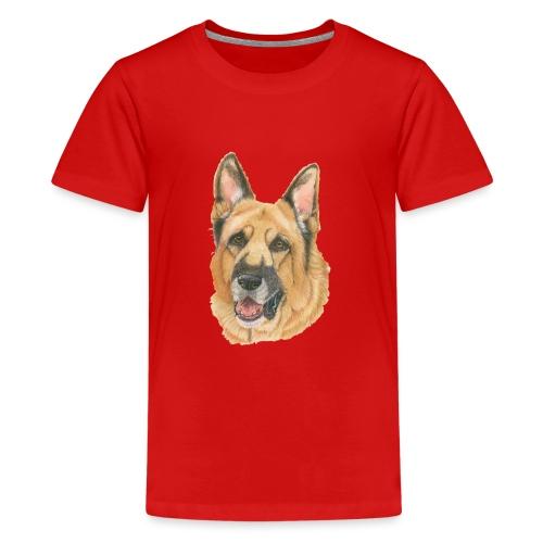 german shepherd color - Teenager premium T-shirt
