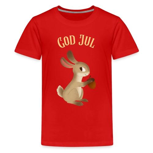 God jul - Premium T-skjorte for tenåringer