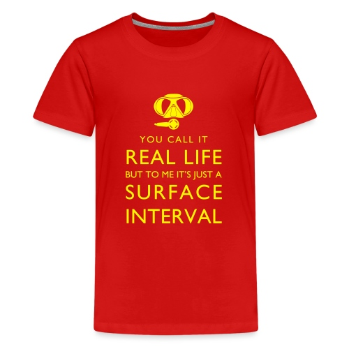Real life vs surface interval - Teenager Premium T-Shirt