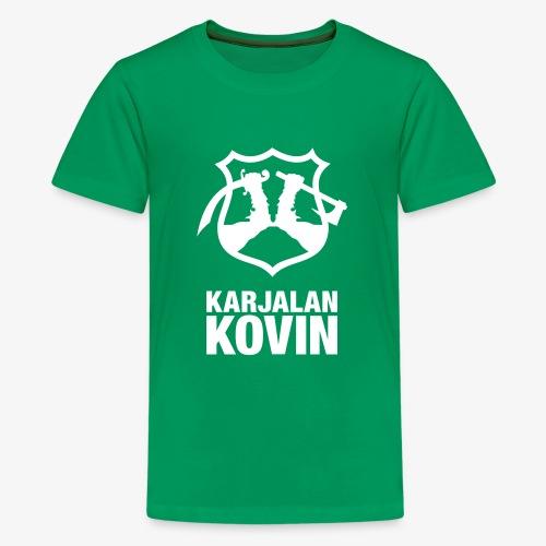 karjalan kovin pysty - Teinien premium t-paita
