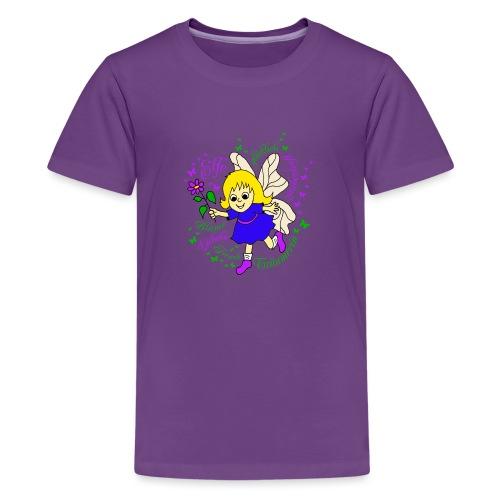 Elfe Traeume in Lila - Teenager Premium T-Shirt