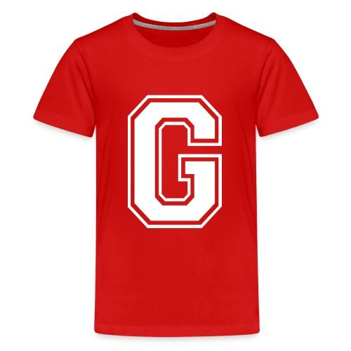 Grime Apparel G Grey Shirt. - Teenage Premium T-Shirt
