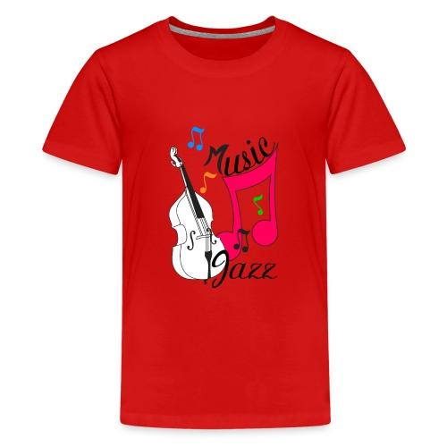 music jazz con contrabbasso - Maglietta Premium per ragazzi