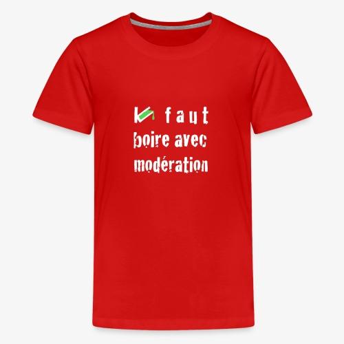 test t shirt FACE BLANC - T-shirt Premium Ado