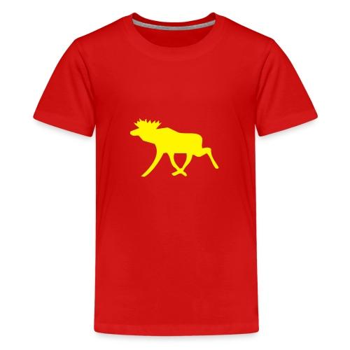 Schwedenelch; schwedisches Elch-Symbol (vektor) - Teenager Premium T-Shirt