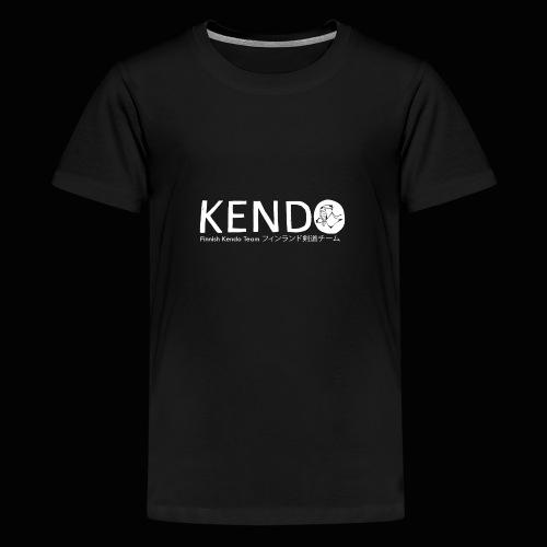 Finnish Kendo Team Text - Teinien premium t-paita