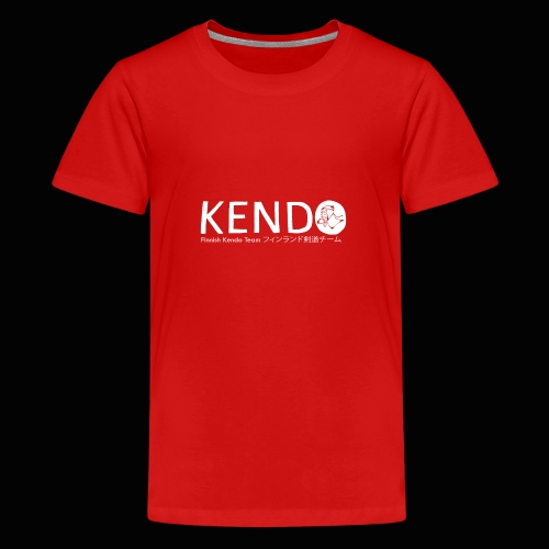 Finnish Kendo Team Text - Teinien premium t-paita