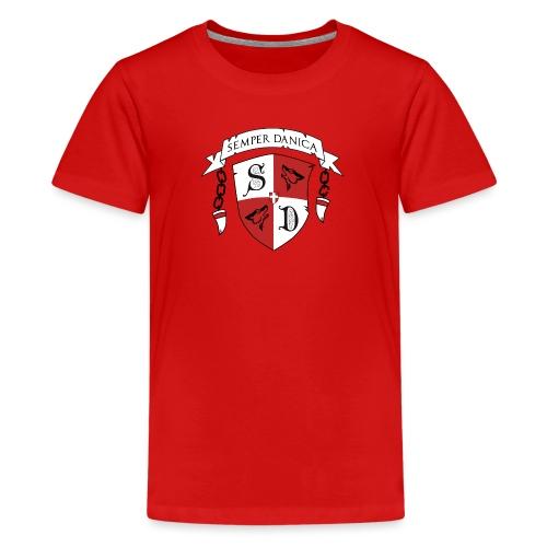 SD logo - sorte lænker - Teenager premium T-shirt