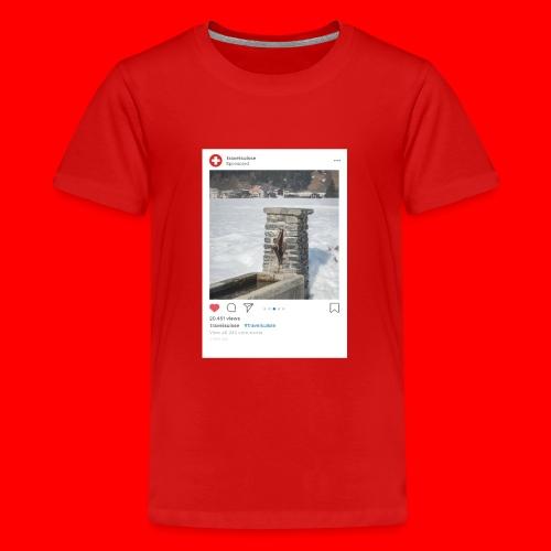 travelsuisse - Brunnen Trin - Teenager Premium T-Shirt