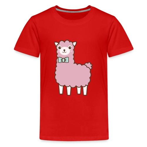 fluffy Lama - Teenager Premium T-Shirt