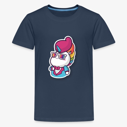 Funny Unicorn - Teenage Premium T-Shirt