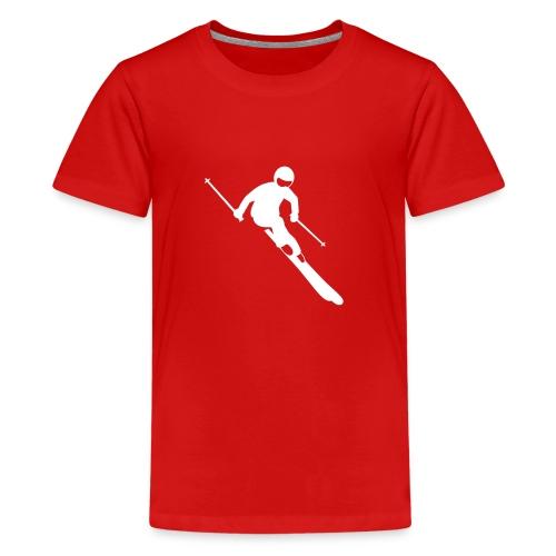 Skifahrer - Teenager Premium T-Shirt