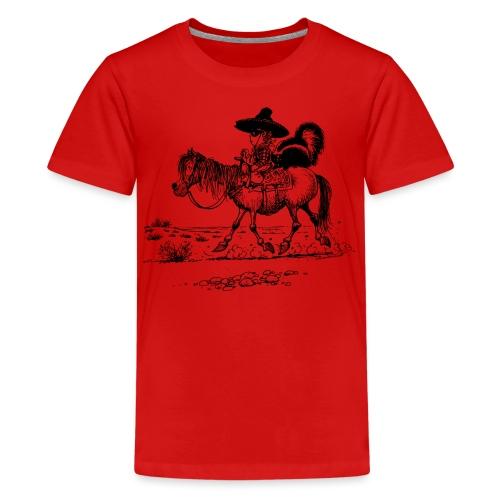 Thelwell Cowboy mit einem Stinktier - Teenager Premium T-Shirt