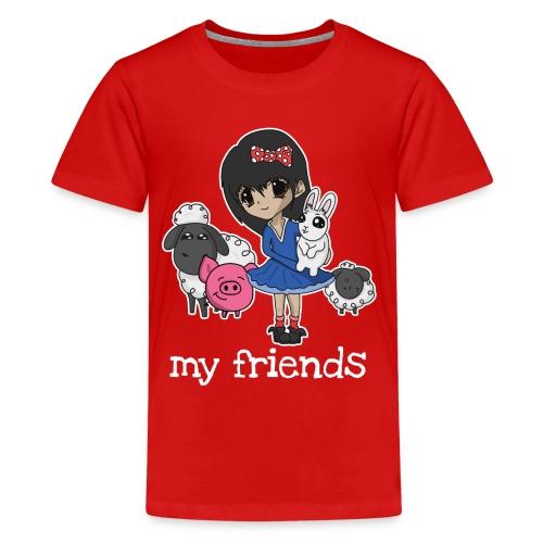 Vegan Company Girlie Design - Teenager Premium T-Shirt