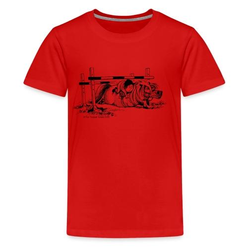 Thelwell Cartoon Pony Sturz - Teenager Premium T-Shirt