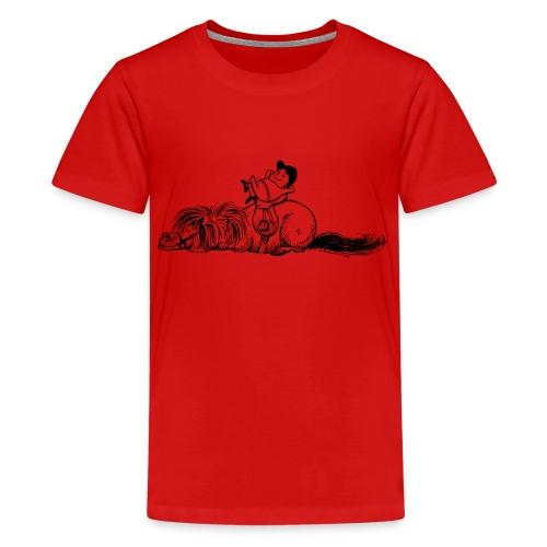 Thelwell Pony und Reiter schlafen - Teenager Premium T-Shirt