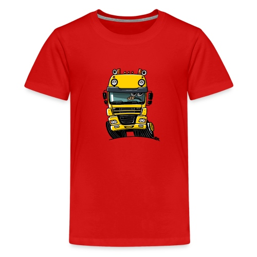 0810 D truck CF geel - Teenager Premium T-shirt