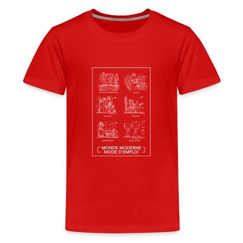 monde moderneblanc png - T-shirt Premium Ado