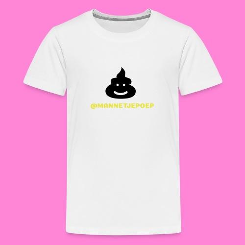 Mannetje Poep Shit - Teenager Premium T-shirt