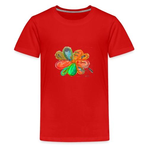 Ökonomie der Verbundenheit - Fraktale - Teenager Premium T-Shirt