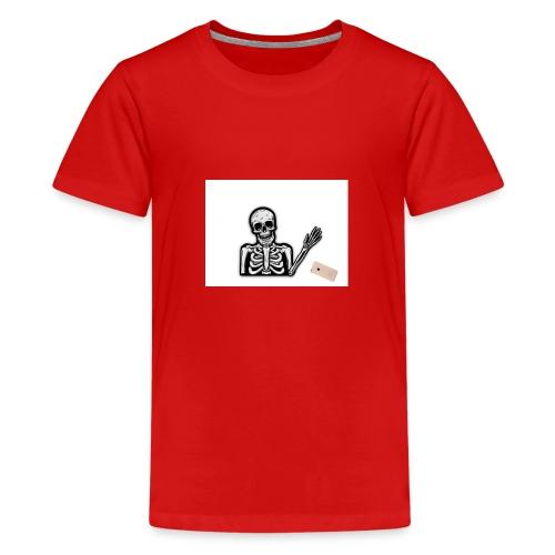 Skelett som tappar sin mobil - Premium-T-shirt tonåring