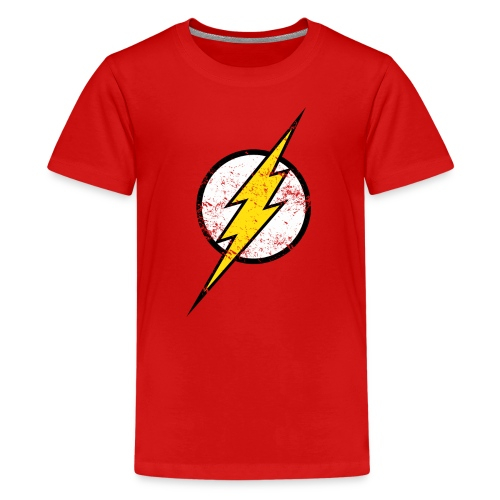 DC Comics Justice League Flash Logo - Teenager Premium T-Shirt