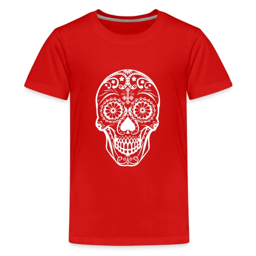 Skull white - Teenager Premium T-Shirt