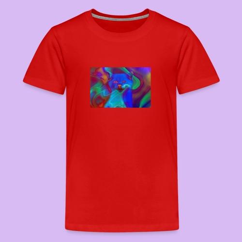 Gattino con effetti neon surreali - Maglietta Premium per ragazzi