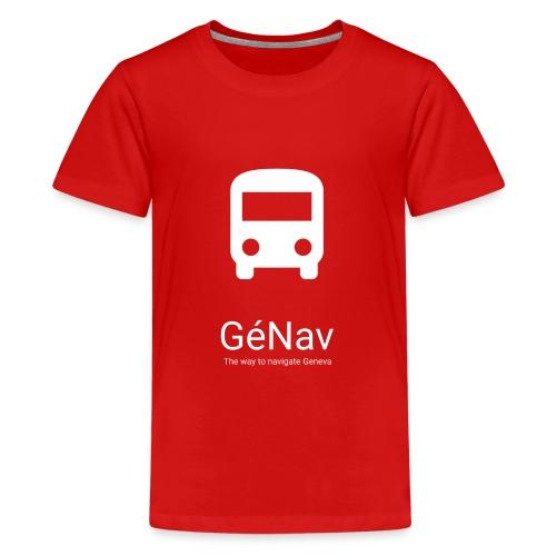 GéNav Logo Blanc - T-shirt Premium Ado