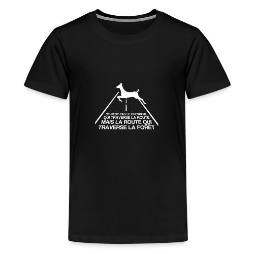 Chevreuil blanc - T-shirt Premium Ado