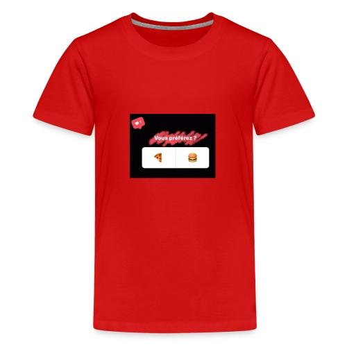la pizza ou le hamburger choisissez votre camps PB - T-shirt Premium Ado