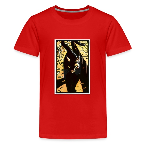 The cat from the Tale of One Bad Rat - Teenage Premium T-Shirt