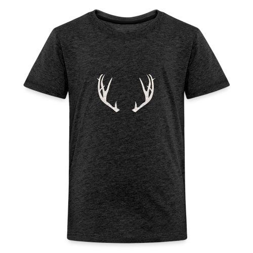 Jäiset poronsarvet - Teinien premium t-paita