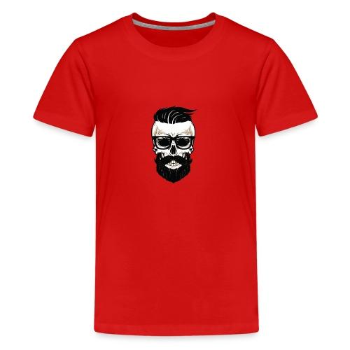 Bearded Dads Skull - Teenager Premium T-Shirt